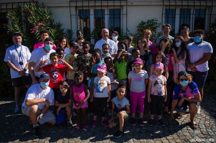 Le 30 Juillet 2020 au Stade Raoul Montbrand de Pantin,  Une Journée avec les enfants du Groupe SOS Solidarités